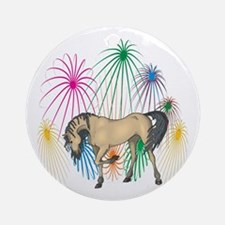 Andalusian 4th Of July Fireworks Ornament (Round)