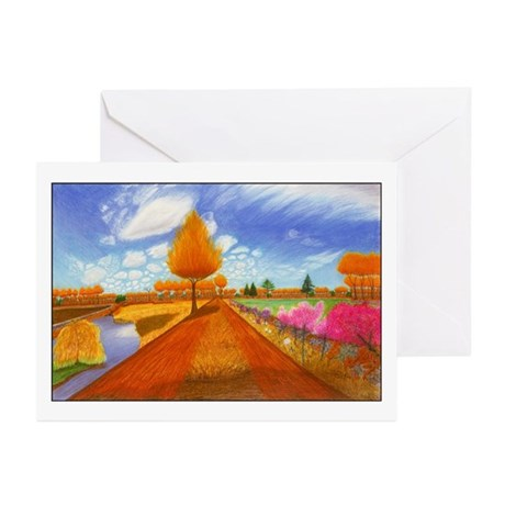 """Dirt Road"" 6 Greeting Cards (JFPeters)"