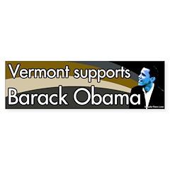 Vermont supports Barack Obama bumper sticker
