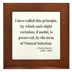 Charles Darwin 9 Framed Tile