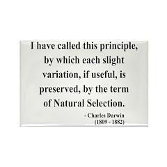 Charles Darwin 9 Rectangle Magnet (100 pack)