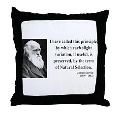 Charles Darwin 9 Throw Pillow