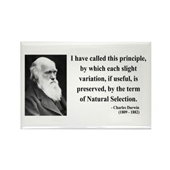 Charles Darwin 9 Rectangle Magnet