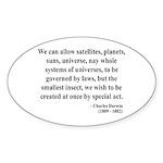 Charles Darwin 5 Oval Sticker