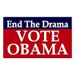 End the Drama, Vote Obama sticker