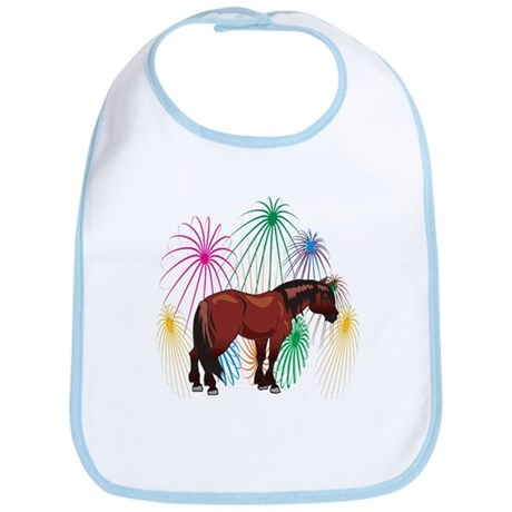 Clydesdale 4th Of July Fireworks Bib
