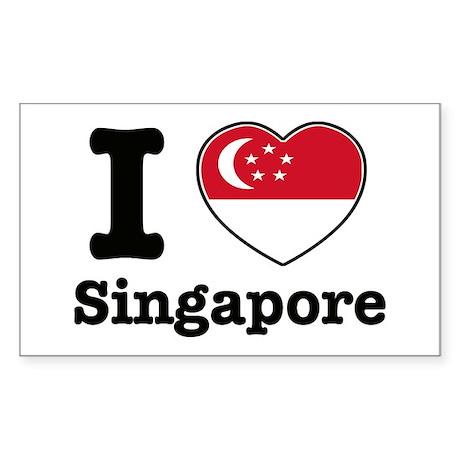 I love Singapore Rectangle Sticker
