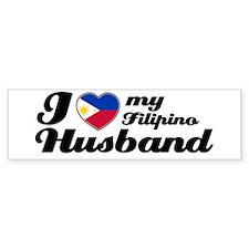 I love my Filipino Husband Bumper Car Sticker