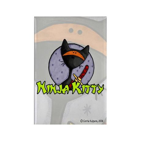 Ninja Kitty Rectangle Magnet (10 pack)
