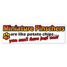 Potato Chips Miniature Pinscher Bumper Bumper Sticker