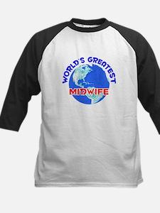 World's Greatest Midwife (E) Kids Baseball Jersey