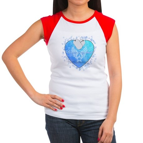 Forever in my heart: USAF Women's Cap Sleeve T-Shi