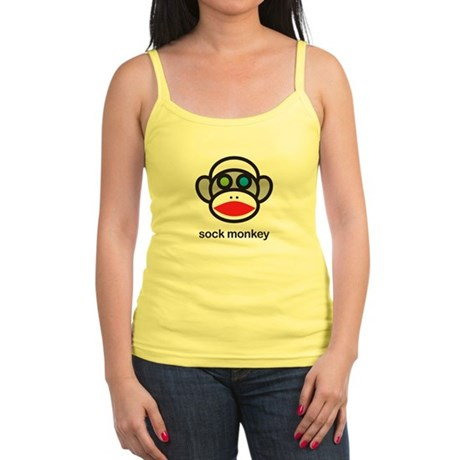crazy sock monkey Jr. Spaghetti Tank
