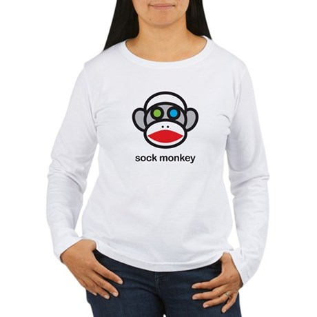 crazy sock monkey Women's Long Sleeve T-Shirt