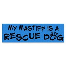Rescue Dog Mastiff Bumper Bumper Sticker