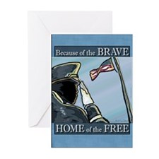 Because of the Brave Greeting Cards (Pk of 10)