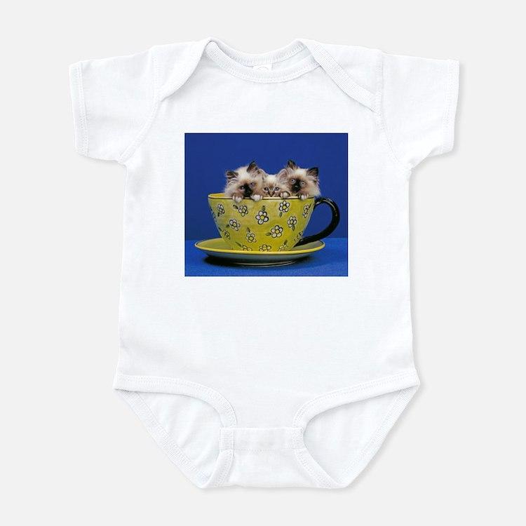 Kittens in a teacup Infant Bodysuit