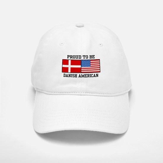 Proud Danish American Baseball Baseball Cap