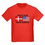 Danish american Kids T-shirts (Dark)