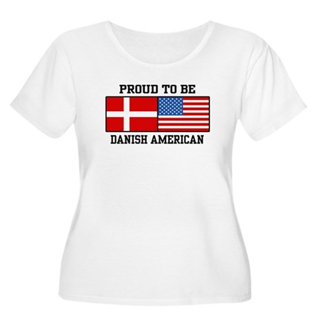 Proud Danish American Women's Plus Size Scoop Neck