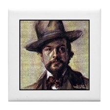 "Faces ""Debussy"" Tile Coaster"