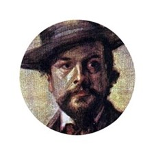 """Faces """"Debussy"""" 3.5"""" Button"""