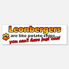 Potato Chips Leonberger Bumper Bumper Bumper Sticker