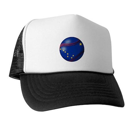 Baseball Alaska Flag Trucker Hat