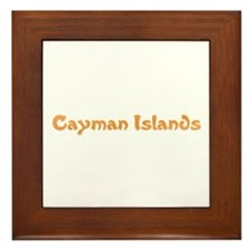 Cayman Islands Framed Tile
