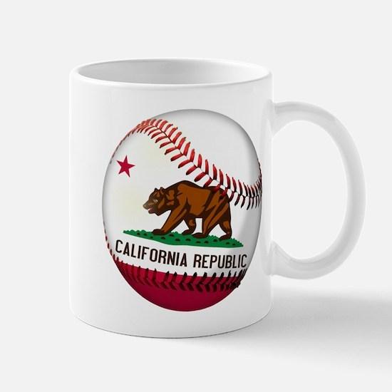 Baseball California Flag Mug