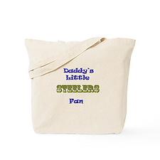 daddy's little steeler fan bo Tote Bag