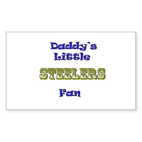 daddy's little steeler fan bo Sticker (Rectangular
