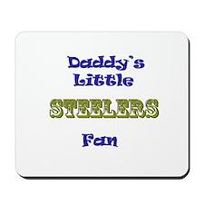 daddy's little steeler fan bo Mousepad