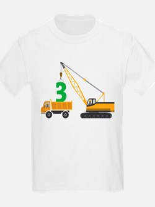 3rd Birthday Construction T-Shirt