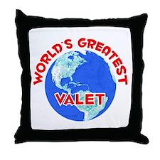 World's Greatest Valet (F) Throw Pillow