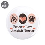 Peace Love Amstaff Terrier 3.5