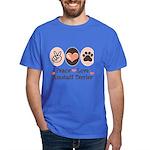 Peace Love Amstaff Terrier Dark T-Shirt