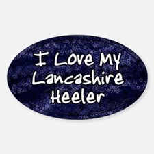 Funky Love Lancashire Heeler Oval Decal