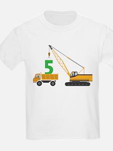 5th Birthday Construction T-Shirt