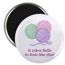 Balls to Knit Magnet