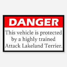 Attack Lakeland Terrier Decal