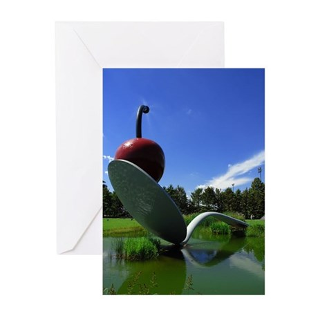 Cherry Spoon 3 Greeting Cards (Pk of 20)