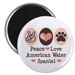Peace Love American Water Spaniel Magnet