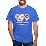 Peace Love American Water Spaniel Dark T-Shirt