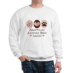Peace Love American Water Spaniel Sweatshirt