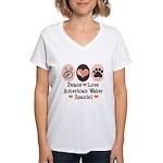 Peace Love American Water Spaniel Women's V-Neck T