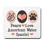 Peace Love American Water Spaniel Mousepad