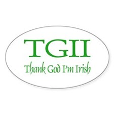 TGII/Thank God I'm Irish Oval Decal