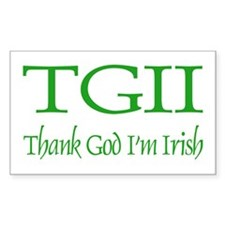 TGII/Thank God I'm Irish Rectangle Decal