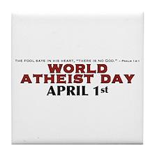 World Atheist Day 3.0 - Tile Coaster